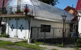 Теплица вместо крыши дома
