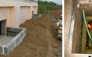 Приямок в подвале для отвода грунтовых вод
