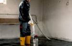 Как осушить подвал от грунтовых вод