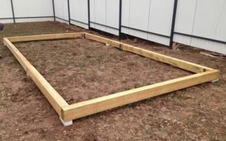 Как сделать фундамент под теплицу из поликарбоната