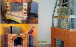 Как построить камин на даче своими руками
