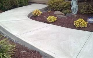 Как бетонировать дорожки на даче