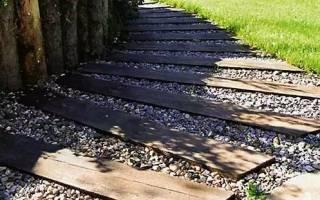 Деревянные дорожки для дачи сада и коттеджа