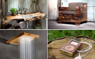 Оригинальные изделия из дерева своими руками