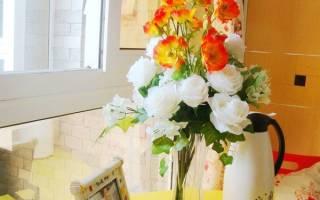 Использование искусственных цветов в интерьере