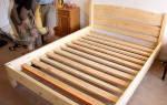 Деревянная кровать своими руками для дачи