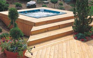 Деревянный бассейн на даче своими руками