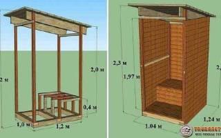 Дачные туалеты деревянные своими руками