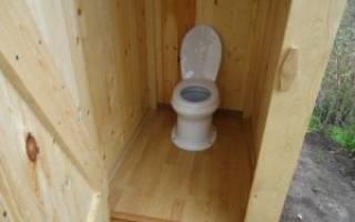 Дачный туалет с унитазом и септиком