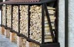 Навес для дров на даче своими руками